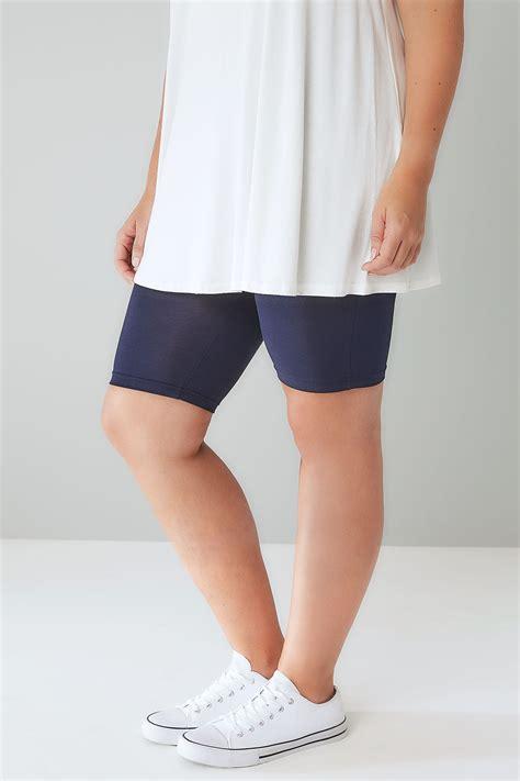 Navy Tum Ntrol Vis Se Elastane Legging Shorts Plus