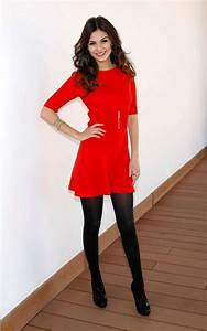 Victoria Justice In a red dress at Victorious Photocall in Spain-01 - GotCeleb