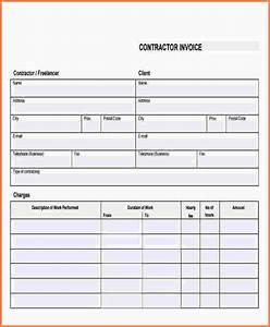 blank contractor invoice 7 blank contractor invoice With blank contractor invoice