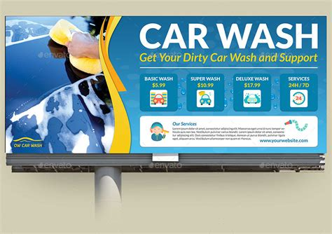 car wash service car wash service billboard by owpictures graphicriver