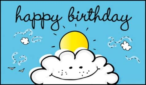 Free On A Cloud Ecard  Email Free Personalized Birthday