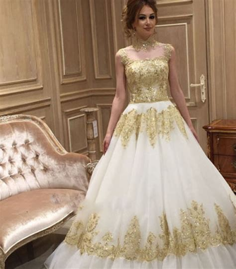 Popular Gold Ivory Wedding Dresses Buy Cheap Gold Ivory