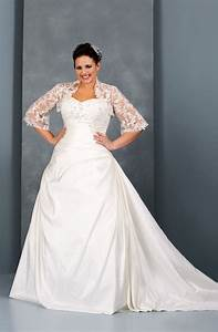 plus size wedding dress with lace shrug jacket most plus With wedding dresses for less