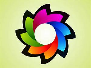 Rainbow Flower Logo Vector Art & Graphics | freevector.com