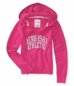 Aeropostale Womens Ny Athletic Hooded Hoodie Sweatshirt ...