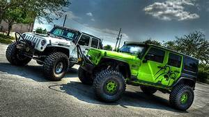 Two Cars Jeep Wrangler Wallpapers And Images Wallpapers