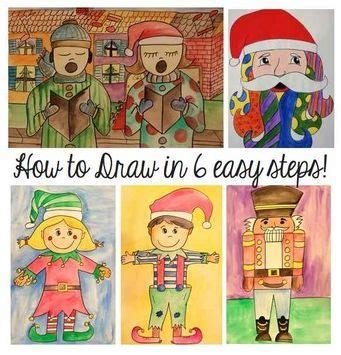 christmas activities   draw santa elves