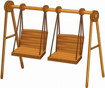 Swings Wooden Vector Clip Clipart Illustration Swing