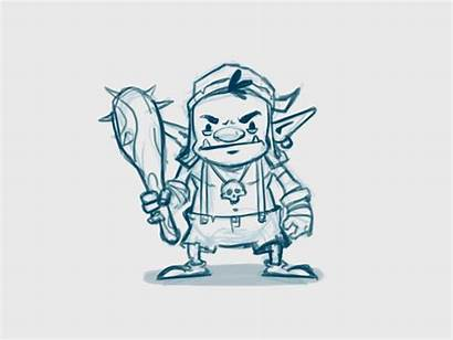 Goblin Sketch Character Motion Dribbble Sketches Paintingvalley