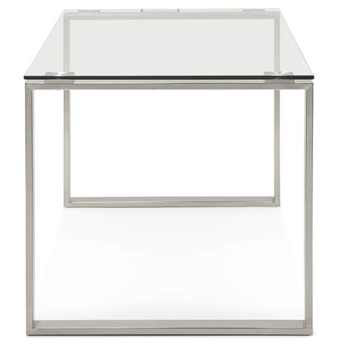 grand bureau design grand bureau design plateau verre pieds chroms balma