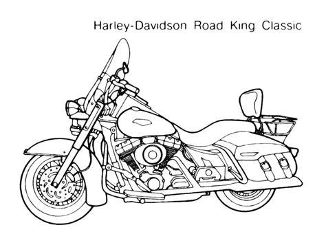 harley davidson modello road king classic disegno da