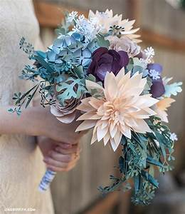 DIY Rustic Paper Bridal Bouquet Bridal Bouquets
