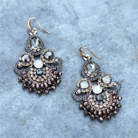 handmade chandelier earrings vintage style handmade chandelier earrings by the linen