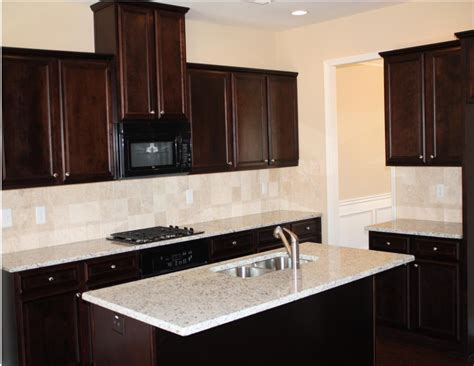 kitchen backsplash ideas  dark wood cabinets wow blog