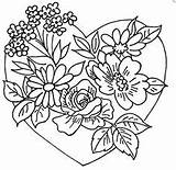 Embroidery Hearts Pages Coloring Heart Flowers Patterns Printable Adult Designs Pour Flickr Flower Adults Hand Colouring Books Sew Roses Unknown sketch template