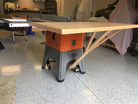ridgid  tablesaw outfeed table  mikemccind