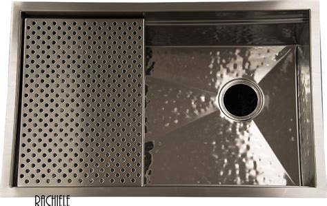 hammered stainless steel kitchen sink custom stainless steel sinks mount and workstation 6977