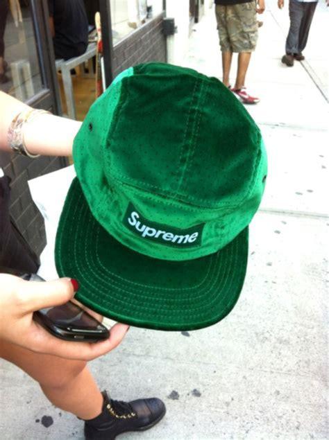SUPREME 2011 FW VELVET POLKA BOX LOGO CAMP CAP HAT TYLER