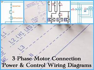 Three Phase Motor Power  U0026 Control Wiring Diagrams