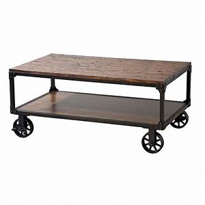 plank style reclaimed wood coffee table with lower shelf With reclaimed wood coffee table on wheels