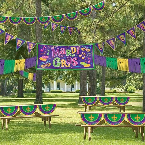 mardi gras outdoor decorating kit eclectic outdoor decorations by buycostumes
