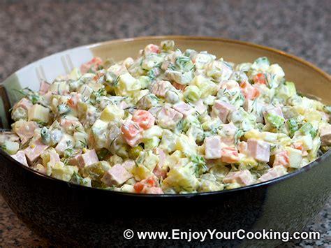 salad olivier recipe my food recipes