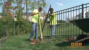 Aluminum Fence - How to install it! - YouTube