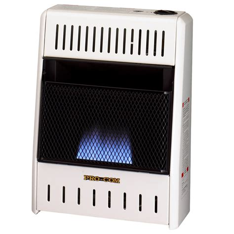 Dual Fuel Blue Flame Ventless Wall Heater  10,000 Btu