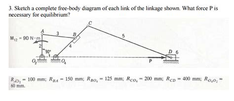 Solved Sketch Complete Free Body Diagram Each Link