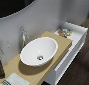 Waschtisch 50 X 40 : aufsatzwaschbecken tw2106 aus mineralguss pure acrylic hochglanz 50 x 35 x 15 cm badewelt ~ Bigdaddyawards.com Haus und Dekorationen