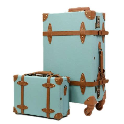 Fashion Women Travel Suitcase Pu Leather Vintage Set