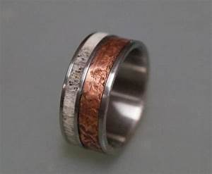 patina copper wedding band for men titanium ring bone With mens copper wedding rings