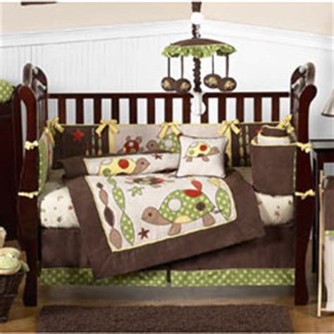 turtle crib set turtle crib bedding collection by sweet jojo designs
