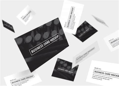 black white business card mockup psd templates
