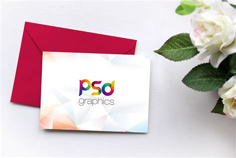 invitation card mockup  psd psd graphics