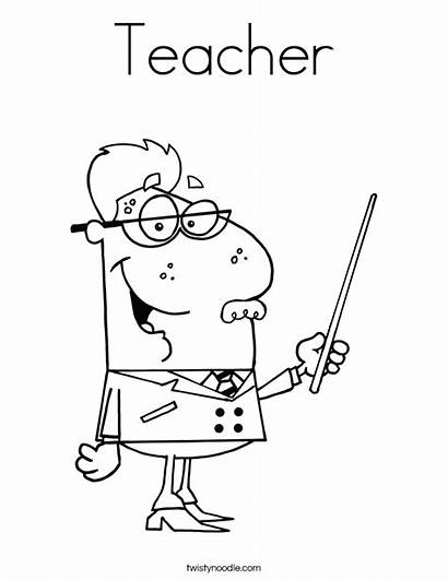 Teacher Coloring Pages Teachers Happy Morning Thank