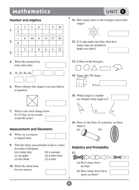 Excel Basic Skills - English and Mathematics: Year 3