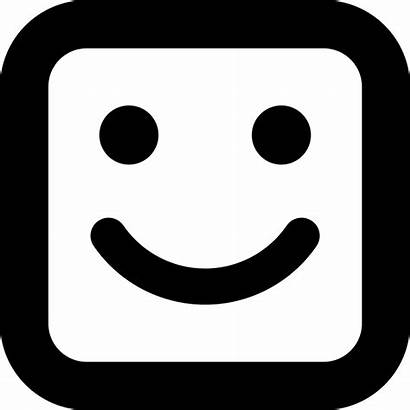 Smile Square Face Icon Smiley Faces Icons