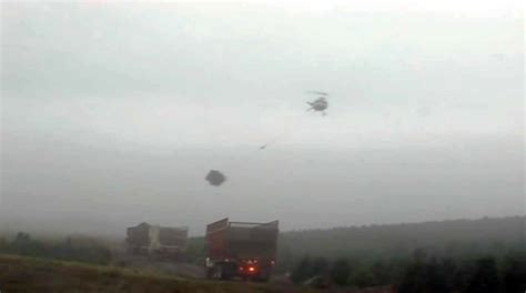 helicopter pilot is a master at his job harvesting
