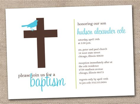 baptism card template baptism invitations free printable christening