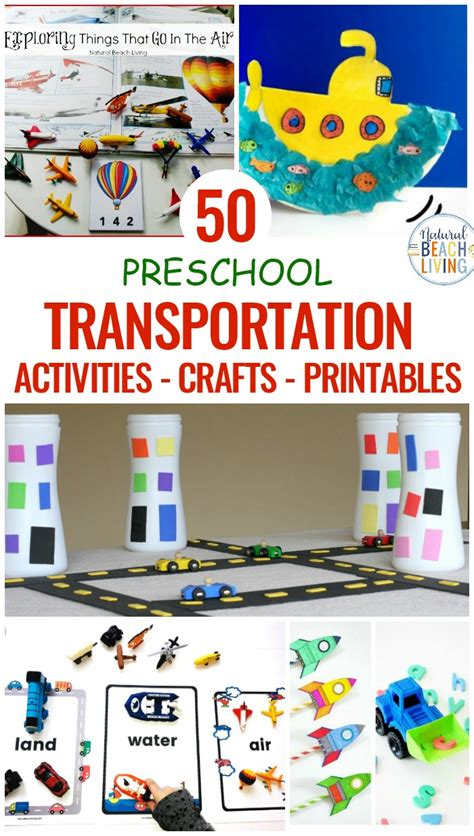 50 transportation theme preschool crafts activities and 312 | preschool transportation theme