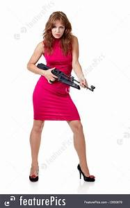 Picture Of Action Girl With Gun