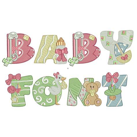 baby machine embroidery font monogram alphabet baby etsy