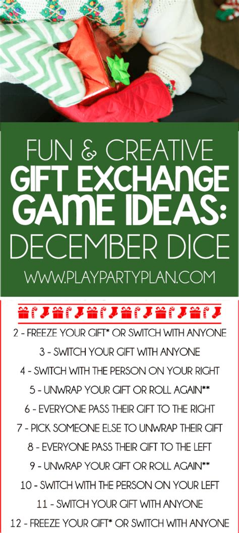 creative gift exchange games  absolutely   play