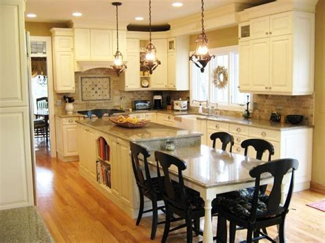 kitchen island with built in table the island with the seating at the end and the white 9425