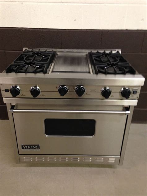 viking gas cooktop viking vgic365 4gss 36 quot professional gas range oven 6