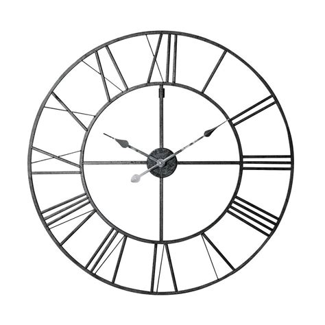 horloge en m 233 tal noir d 80 cm factory maisons du monde