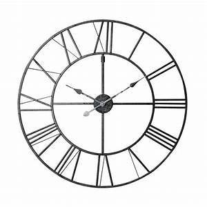 Maison Du Monde Horloge Murale : horloge en m tal noir d 80 cm factory maisons du monde ~ Teatrodelosmanantiales.com Idées de Décoration