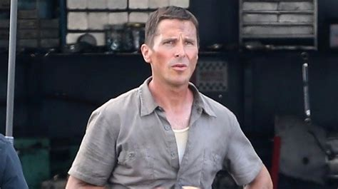 Christian Bale Sports Slimmed Down Figure First Ford