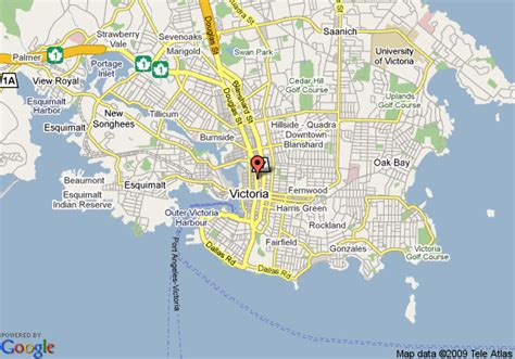 map  travellers inn downtown victoria